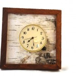 View and buy this Birch Bark Inset Clock